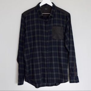 Men's 7DIAMONDS Long Sleeve Plaid Flannel
